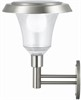 Solar energy stainless steel wall ligth, 69 lumen